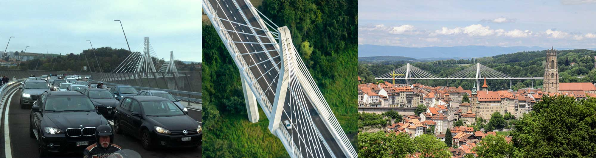 Improving traffic flow - Poya Bridge, Fribourg, Switzerland