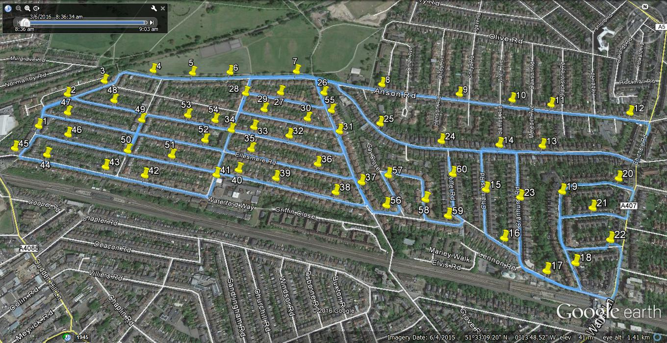 Speed survey network using MetroCount traffic counters
