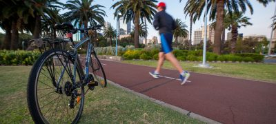 Bike Counter + Pedestrian Volumes